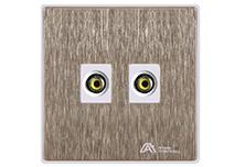 A9欧曼尔双视频插座